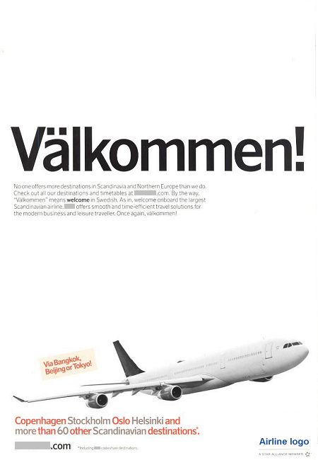 ___ advertisement titled: 'Välkommen', from the year 2010.