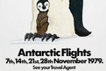 Air New Zealand poster from 1979 for sightseeing trips to Antarctica. Source: New Zealand History Online.