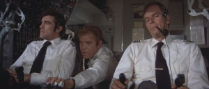 F/O Allen, F/E Bimonte and Capt. O'Hara (Mike Henry, Ken Swofford and Charlton Heston)