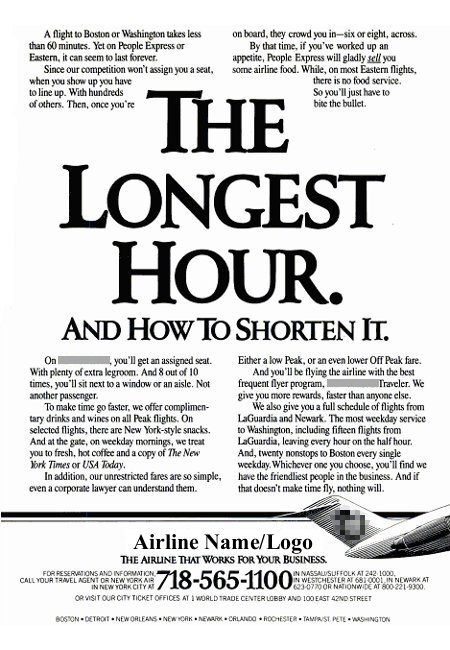 __ advertisement titled 'The Longest Hour. And How To Shorten It'.
